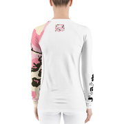 Pink Camo Logo Gals  Rash Guard