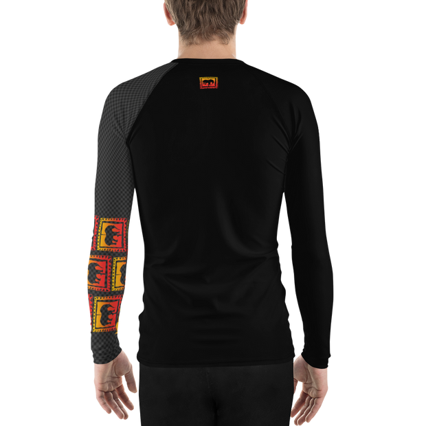 Carbon FIber Mens Rash Guard