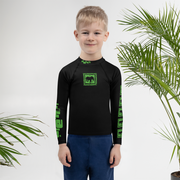 Acid Green Kids Rash Guard