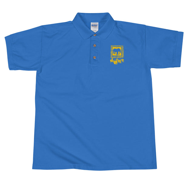 Logo yllow/bleu Embroidered Polo Shirt