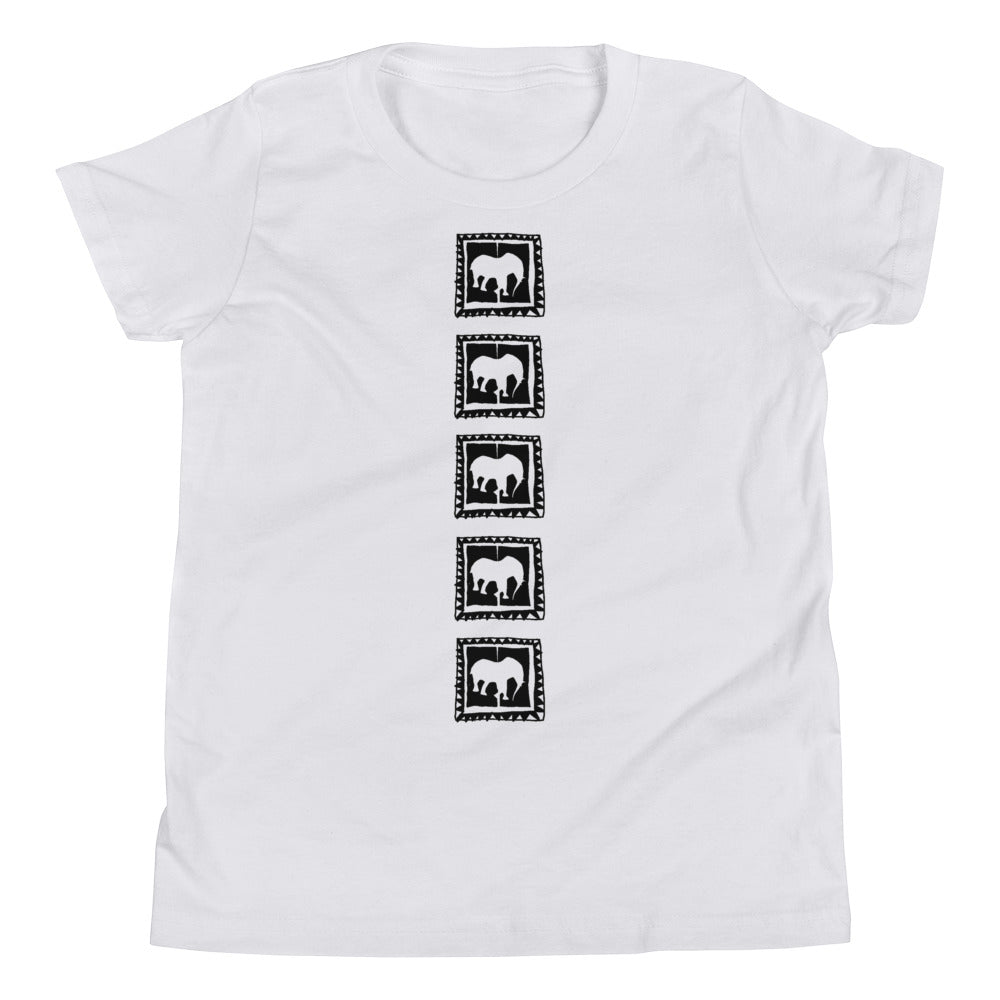 D' vertical Youth Short Sleeve T-Shirt