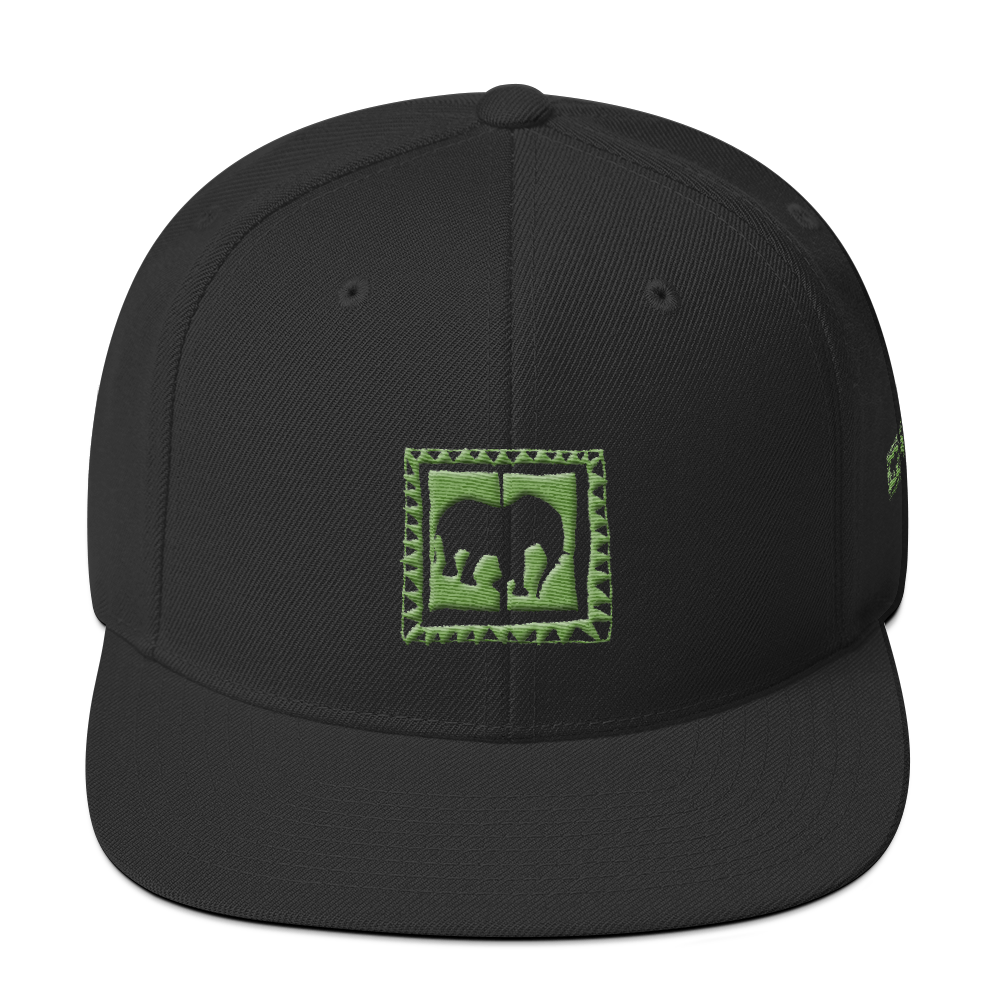 Acid Green Snapback Hat