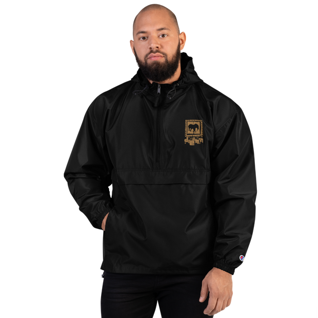 DRM x  Champion Packable Jacket Blk/Gold