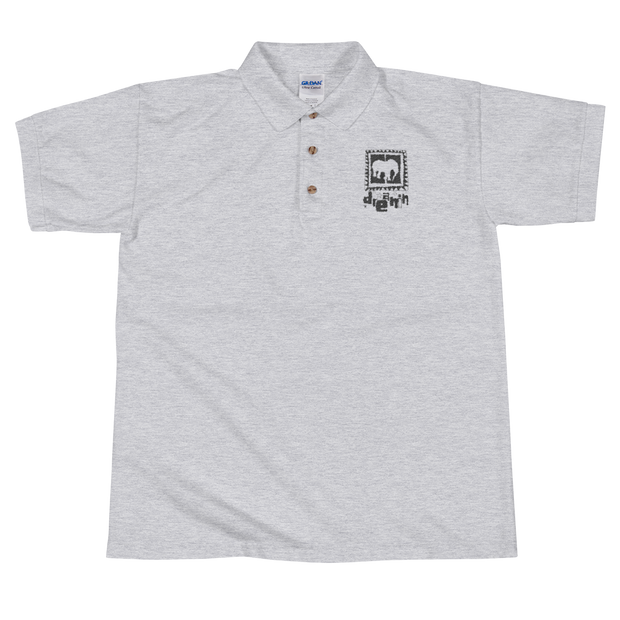 Logo blk / grey Embroidered Polo Shirt