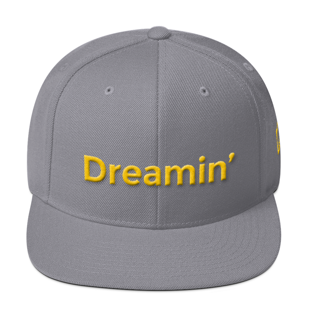 Dreamin Grey/Yllow Snapback