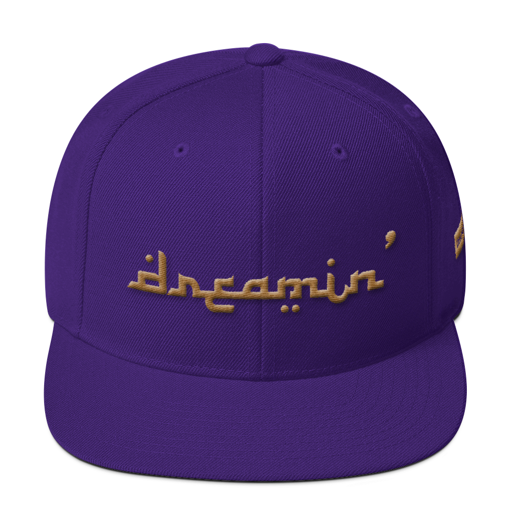 D' Arabic Purple/Gold 3D Puff Snapback