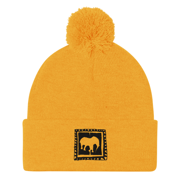 Yellow Series Pom-Pom Beanie