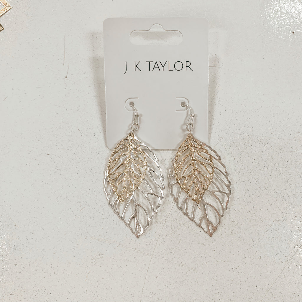 Gold/Silver Leaf Earrings