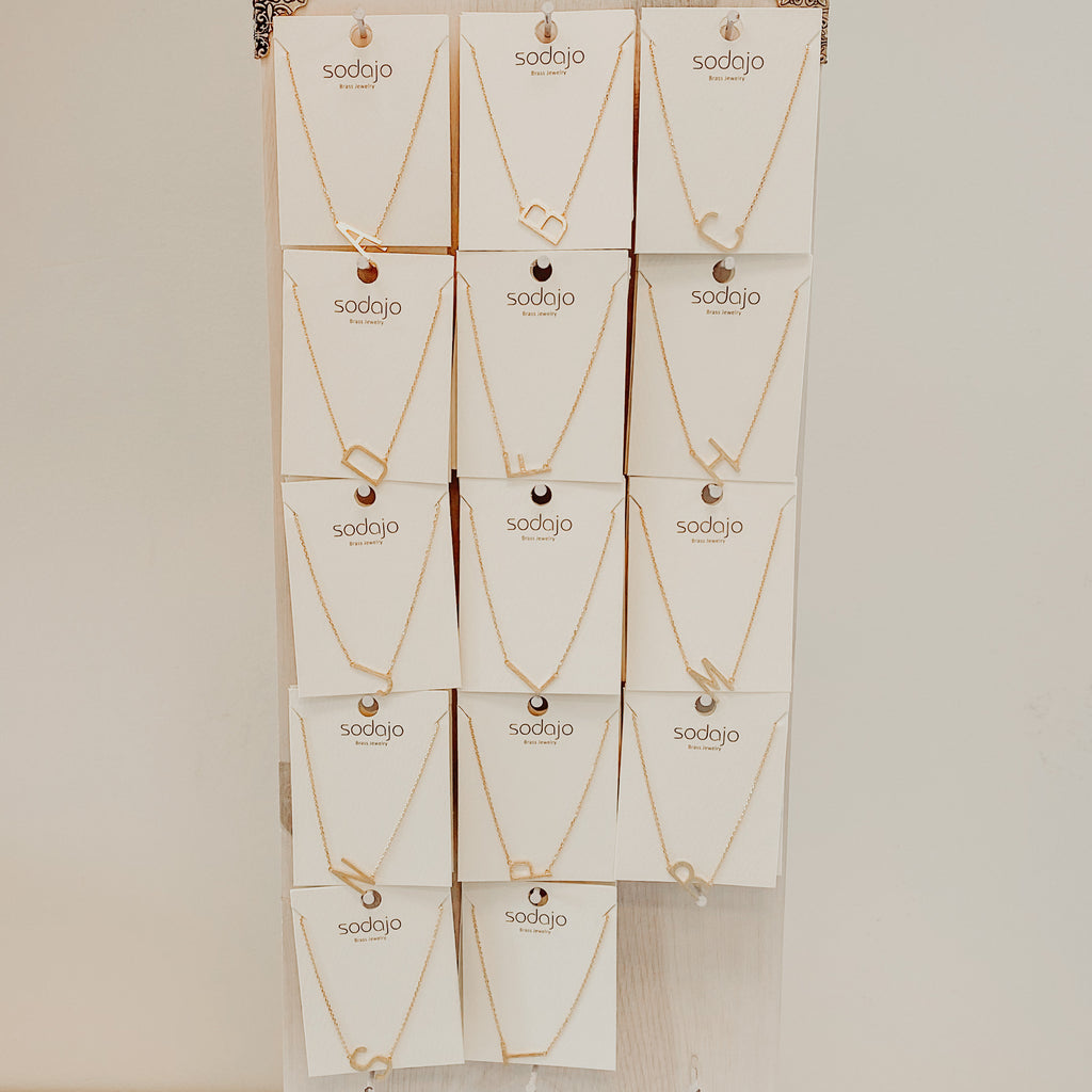 Sodajo Initial Necklaces