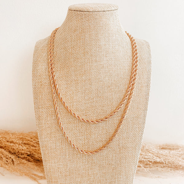 Double Gold Rope Chain