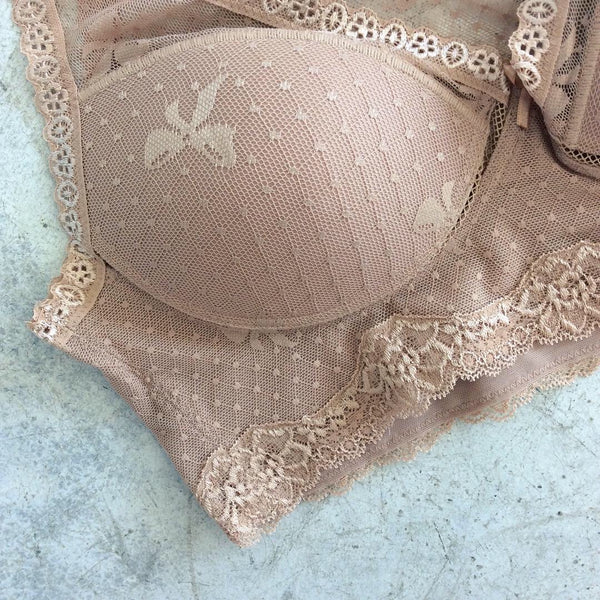 Padded Bow Accent Lace Bralette