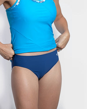 Emily Nursing Racer Top Light Blue - mammojo lactivewear
