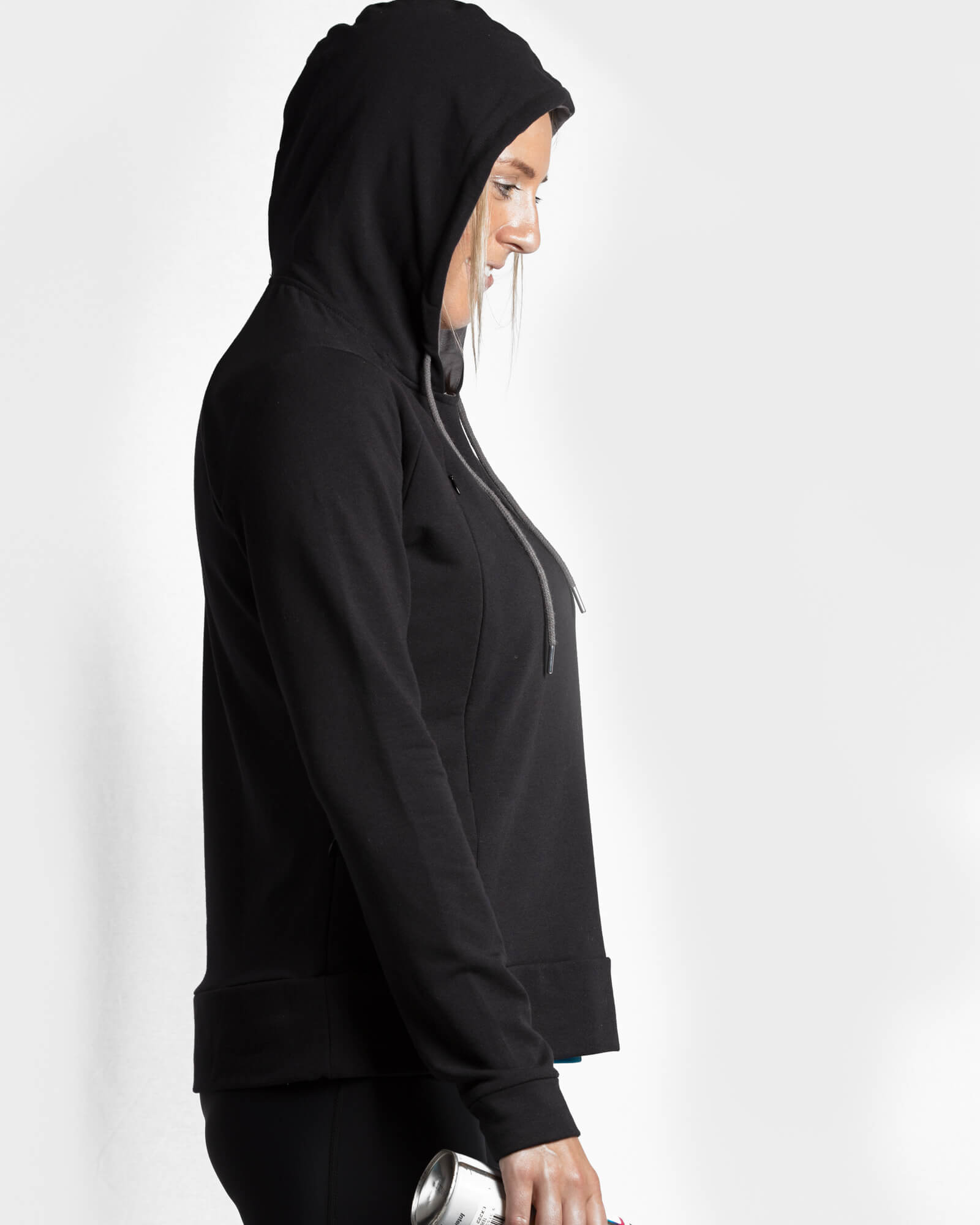 Signature Breastfeeding Hoodie Black - mammojo lactivewear