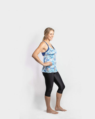 Hannah Breastfeeding Yoga Top Navy - mammojo lactivewear