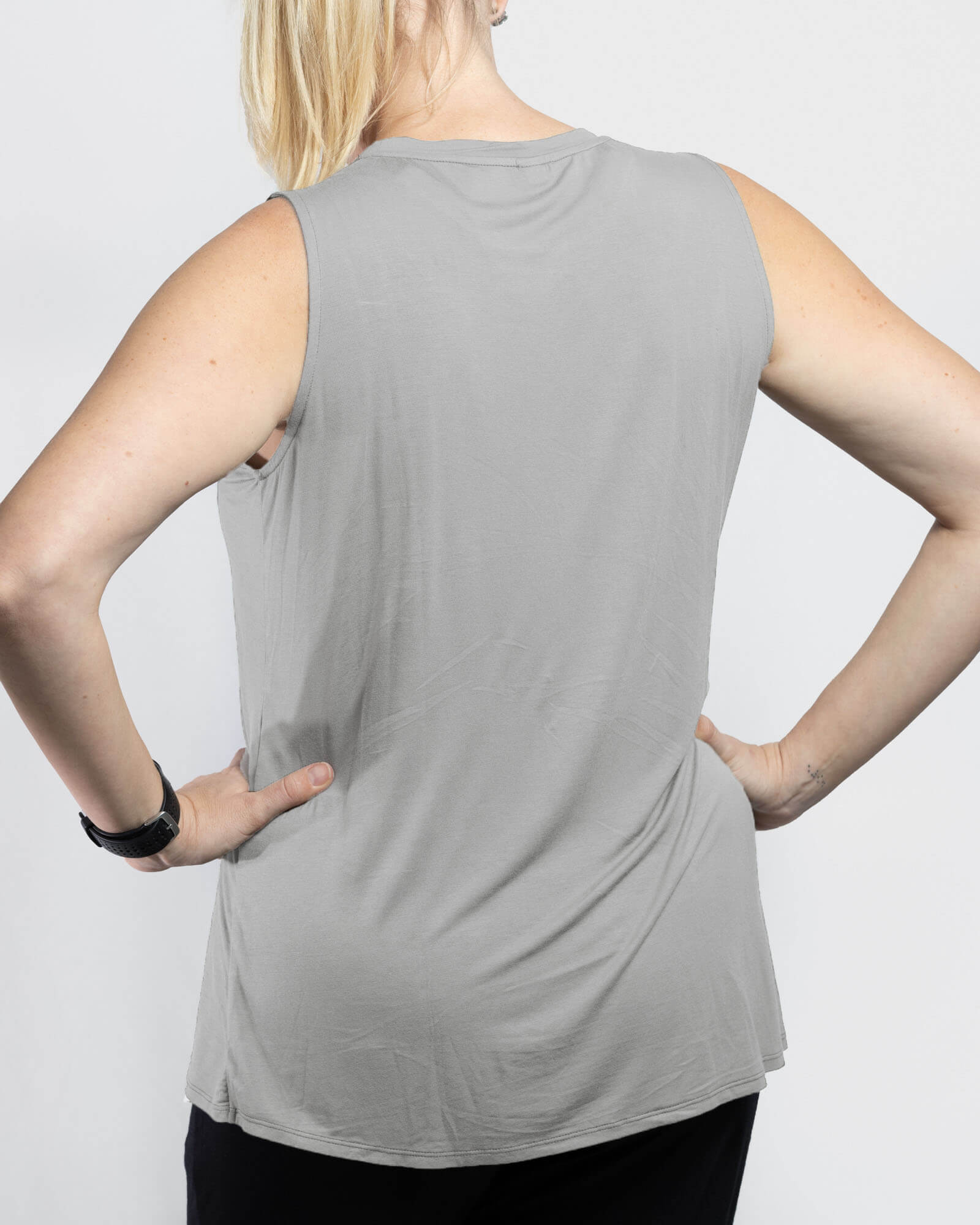 Jessica Cross Over Nursing Tank - Grey Marle