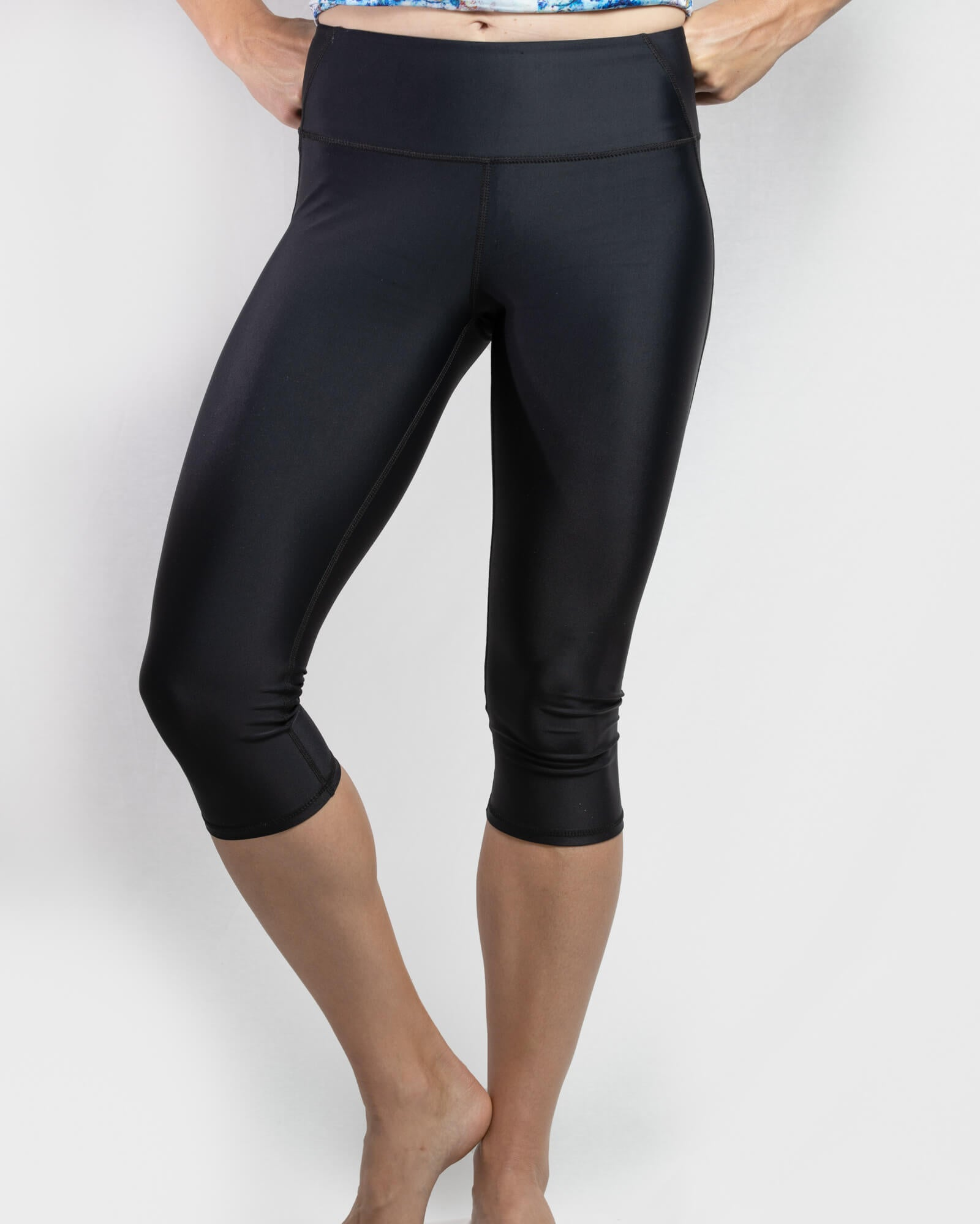 Postpartum Support Tights Black 3/4 Length - mammojo lactivewear
