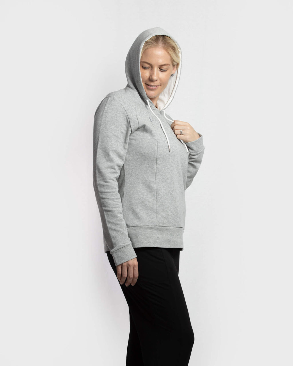 Signature Breastfeeding Hoodie Grey Marle - mammojo lactivewear