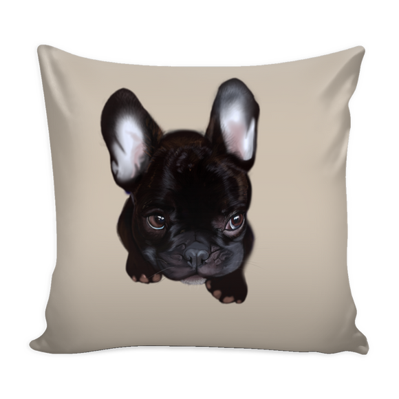Baby French Bulldog Pillow Cover - Deep Antique White