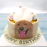寵物壽桃蛋糕  | Chinese Birthday Bun Pet Cake