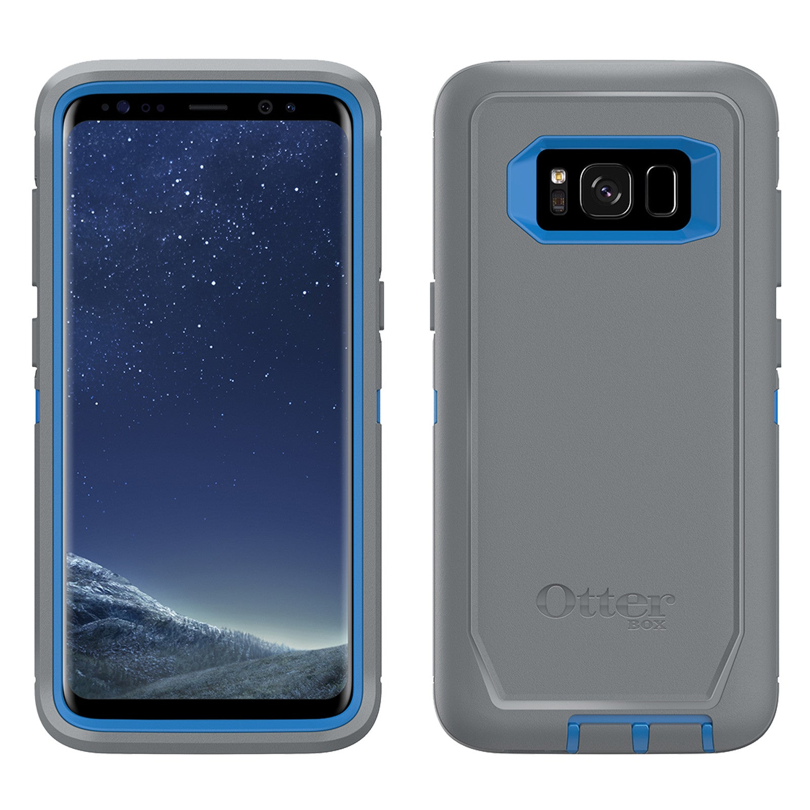 new concept f4cd1 17445 Otterbox Defender Case For Samsung Galaxy S8 Plus - Marathoner Grey/Blue