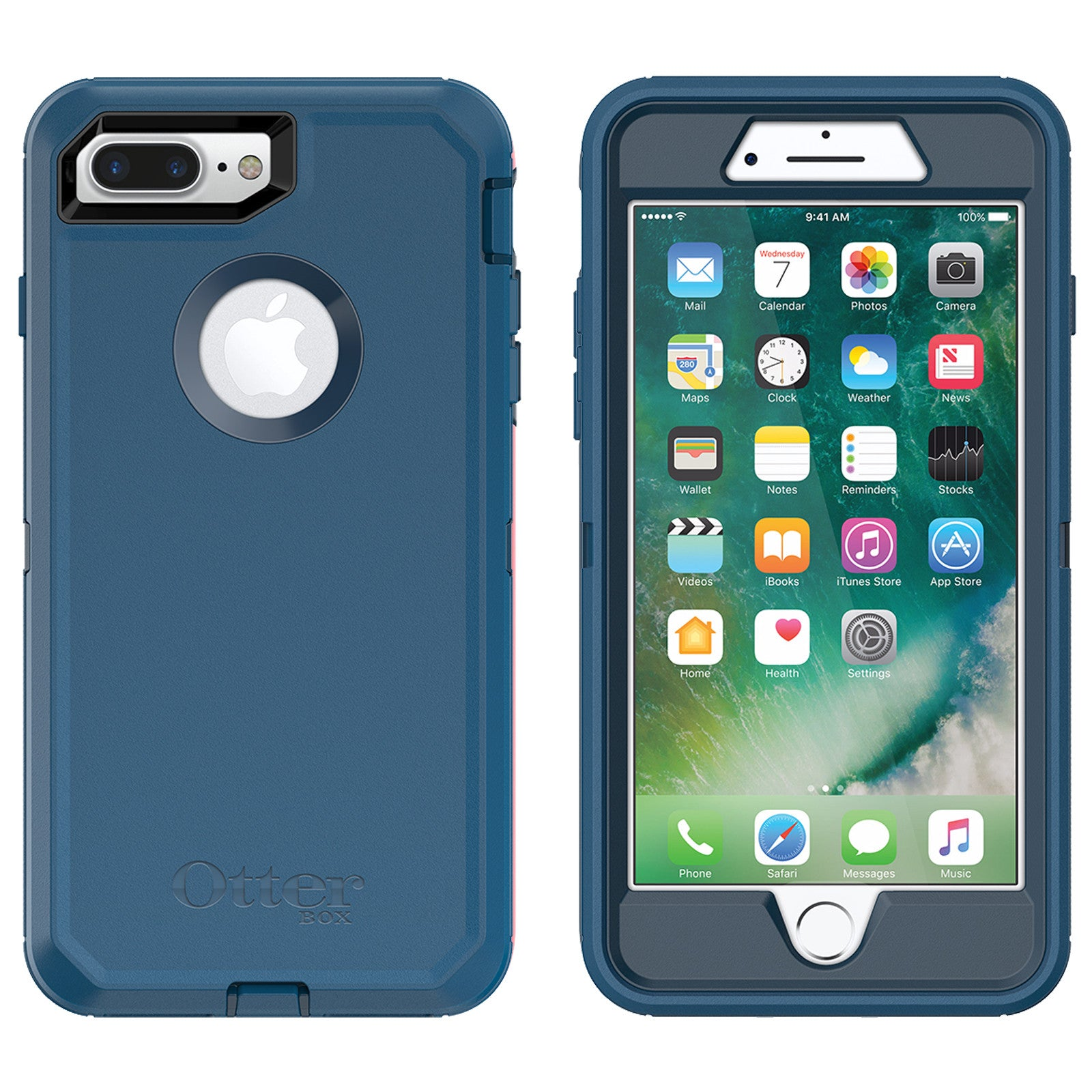 info for 9a98b a07f6 OtterBox Defender case for iPhone 7 Plus - Bespoke Way Blue