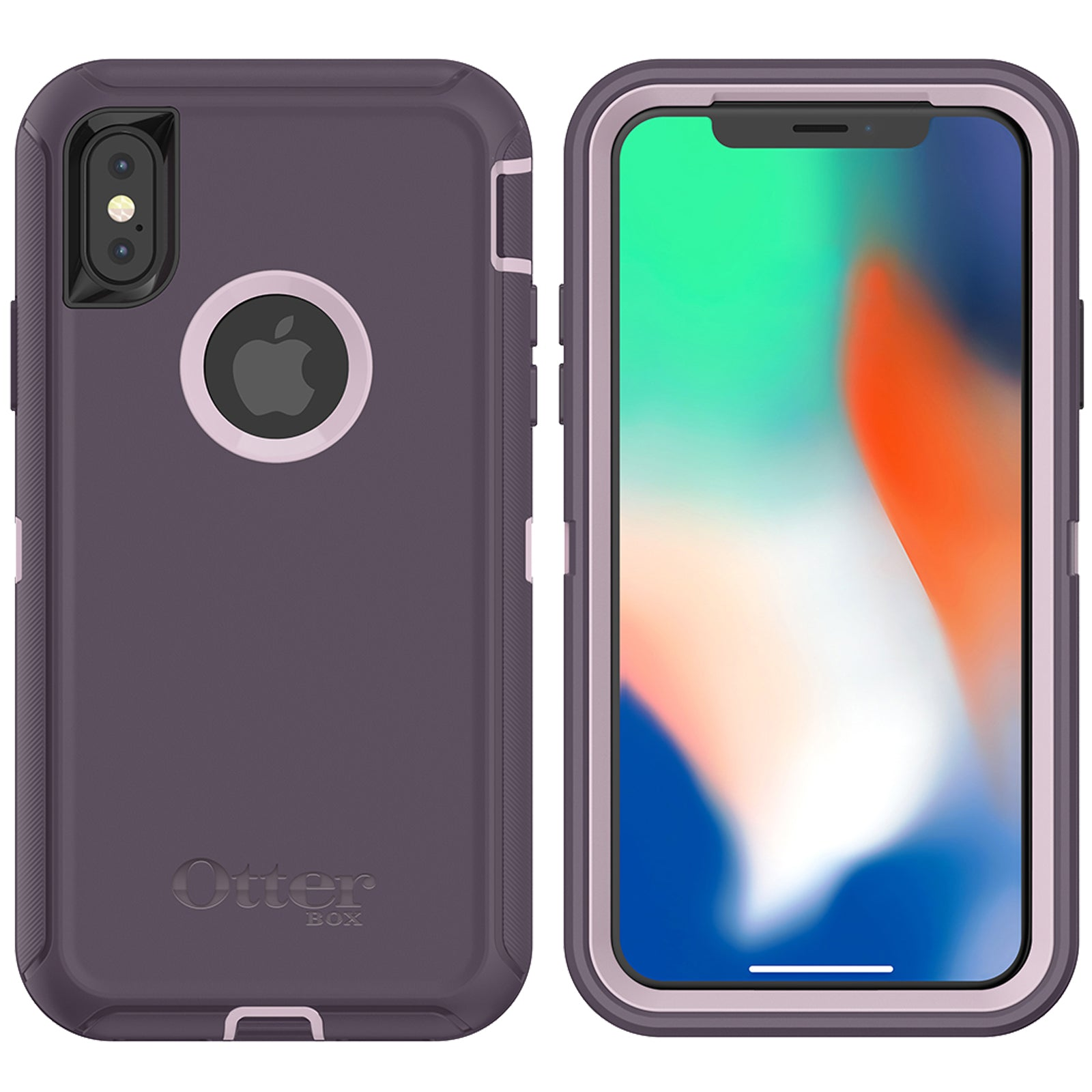huge discount 3ddd0 17429 OtterBox Defender Case for Apple iPhone X - Purple Nebula