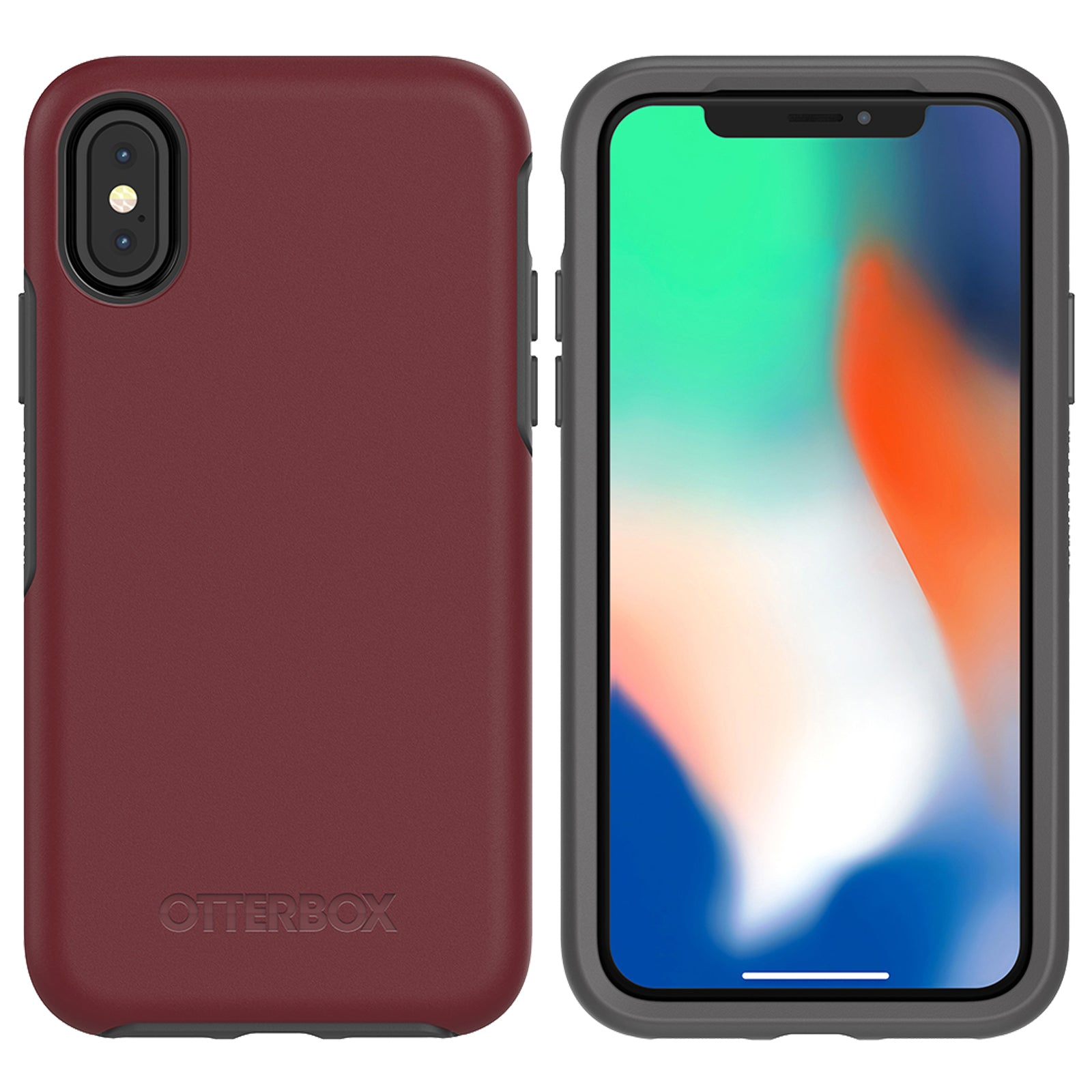 the best attitude d8ad0 58959 OtterBox Symmetry case for iPhone X - Fine Port