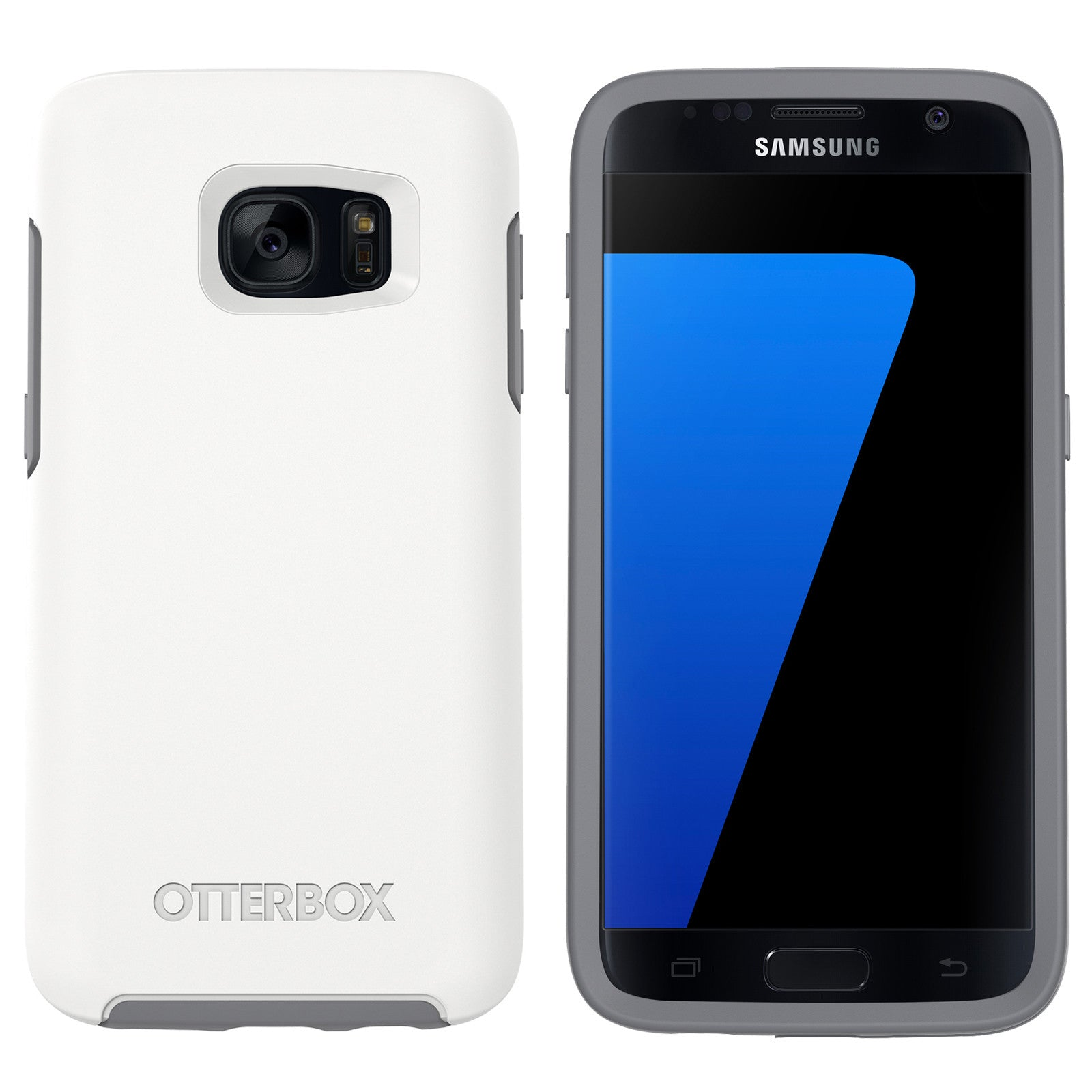 best loved cf57d 944b2 OtterBox Symmetry case for Samsung Galaxy S7 EDGE - Glacier White