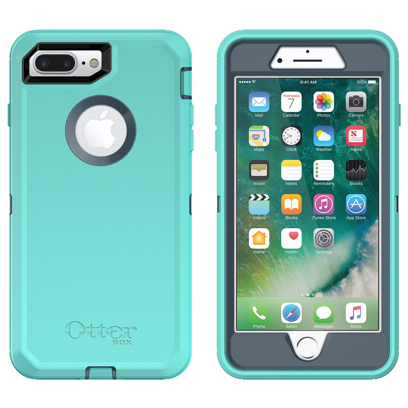 reputable site 893ee 9222c OtterBox Defender case for iPhone 7 Plus - Borealis Aqua