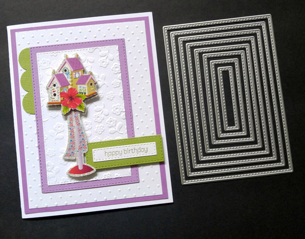 Rectangle Stitched Die set