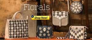 Designer Floral Collection of Leather Bags by WeMe Store 2018