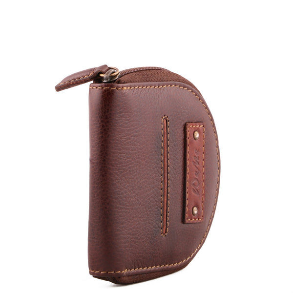 Multi Utility Genuine Leather Unisex Brown Coin Purse - WeMe