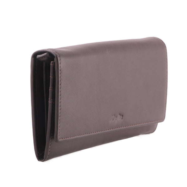 Stylish Genuine Leather Women Brown Clutch Wallet - WeMe