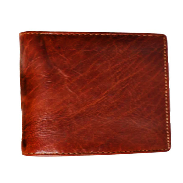 Latest Boston Genuine Leather Men Brown Billfold Wallet - WeMe