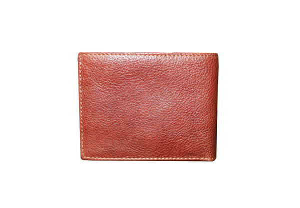 Attractive Genuine Leather Men Cherry Brown Billfold Wallet - WeMe