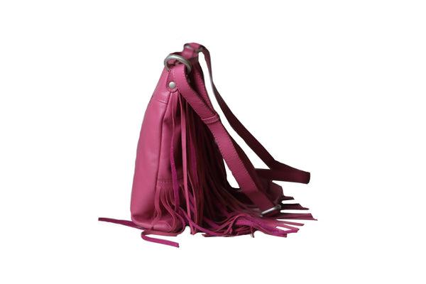 Trendy Exotic Genuine Leather Women Pink Crossbody Bag - WeMe