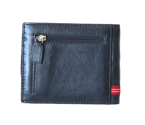 Stylish Boston Genuine Leather Men Black Billfold Wallet - WeMe