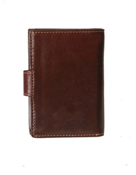 Boston Genuine Aniline Leather Men Brown Portable Card holder cum Wallet - WeMe