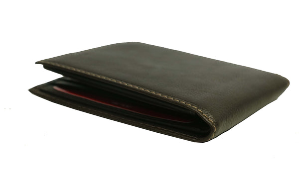 Classic Boston Genuine Oily Waxy Leather Men Black Billfold Wallet - WeMe