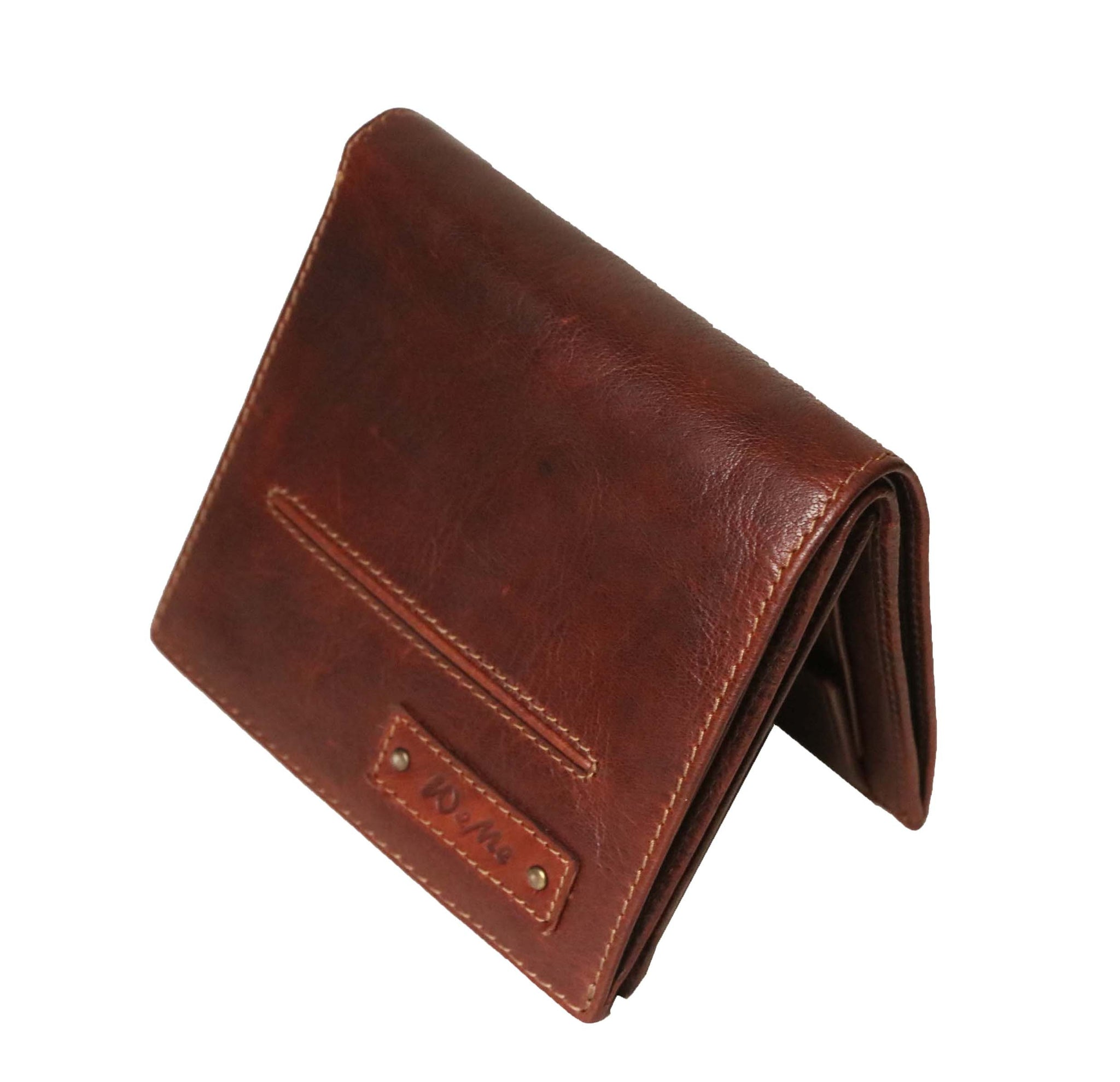 Designer Boston Genuine Leather Men Brown Billfold Wallet - WeMe