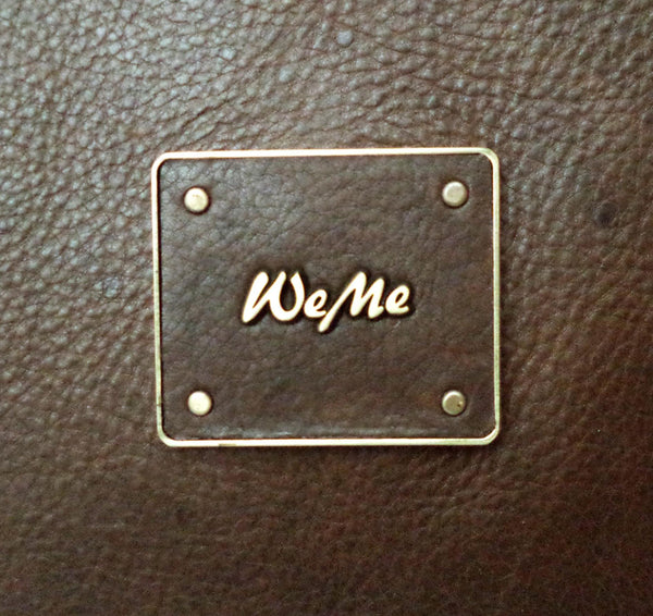 River Genuine Leather Waxy Unisex Brown Laptop Bag - WeMe