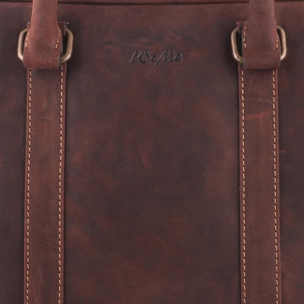 Classic Macbook Genuine Leather Brown Laptop Bag - WeMe