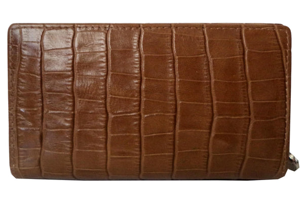 Paris Genuine Croco Women Tan Clutch Wallet - WeMe