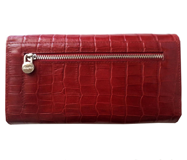 Paris Genuine Croco Women Red Clutch Wallet - WeMe