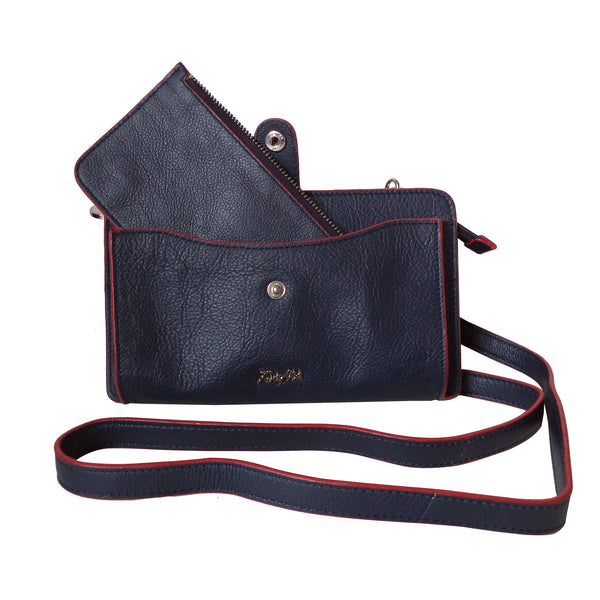 Chelsea Genuine Leather Women Dark Blue Crossbody Bag - WeMe