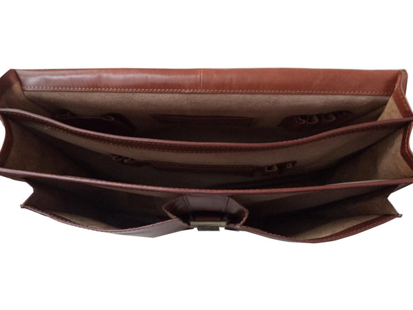 Manhattan Genuine Leather Men Red Portfolio Bag - WeMe