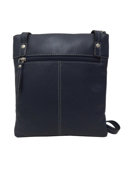 Chelsea Genuine Leather Women Blue Crossbody Bag - WeMe