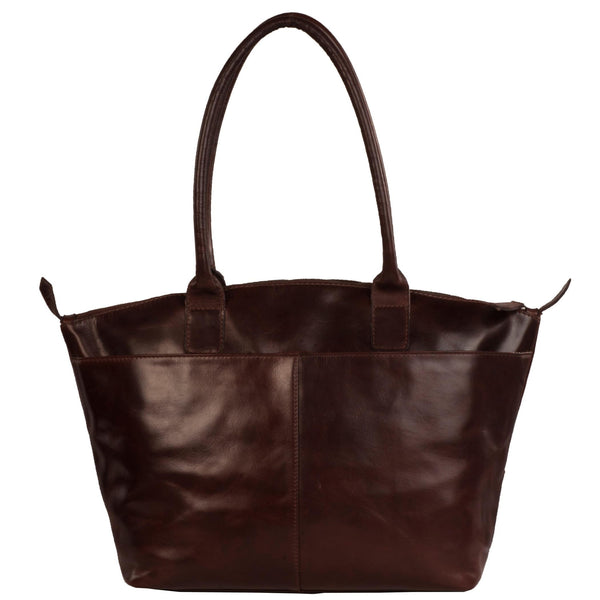 Victoria Genuine Leather Women Brown Shoulder Bag - WeMe