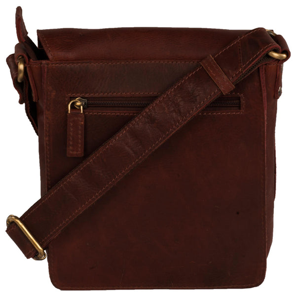 Bradley Genuine Leather Unisex Brown Oily Messenger Bag - WeMe