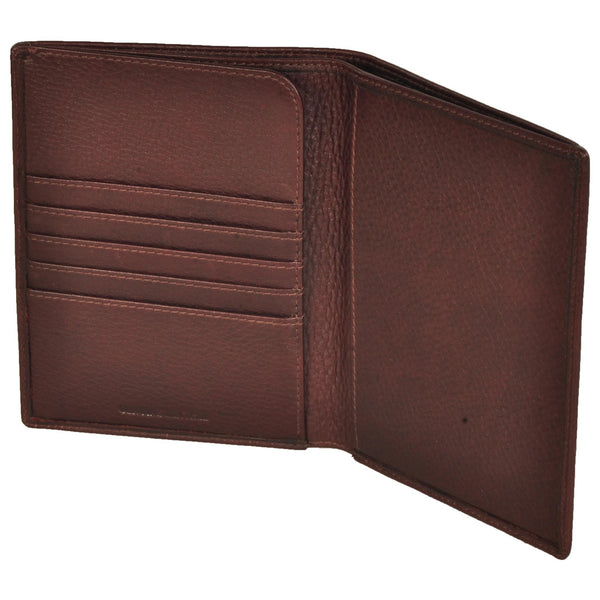 Zen Genuine Leather Unisex Brown Waxy Document Holder - WeMe
